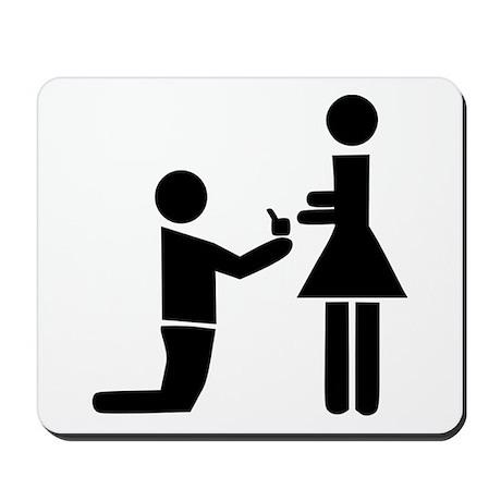 Wedding Proposal Mousepad