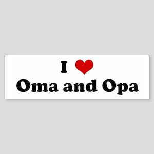 I Love Oma and Opa Bumper Sticker