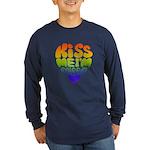 """""""Kiss Me I'm Queer"""" Gay Pride Long Sleev"""