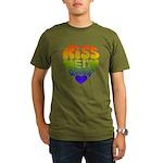 """""""Kiss Me I'm Queer"""" Gay Pride Organic Men's T-Shir"""