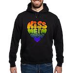 """""""Kiss Me I'm Queer"""" Gay Pride Hoodie (dark)"""