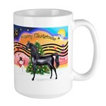 XmsMusic2/Horse (Ar-blk) Large Mug