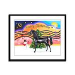 XmsMusic2/Horse (Ar-blk) Framed Panel Print