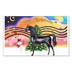 XmsMusic2/Horse (Ar-blk) Rectangle Sticker 10 pk)