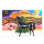 XmsMusic2/Horse (Ar-blk) Postcards (Package of 8)