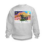 XmsMusic2/Horse (Ar-blk) Kids Sweatshirt