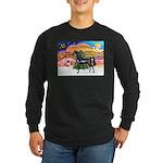 XmsMusic2/Horse (Ar-blk) Long Sleeve Dark T-Shirt