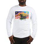 XmsMusic2/Horse (Ar-blk) Long Sleeve T-Shirt