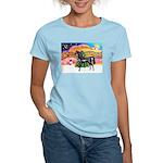 XmsMusic2/Horse (Ar-blk) Women's Light T-Shirt
