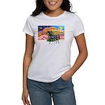 XmsMusic2/Horse (Ar-blk) Women's T-Shirt