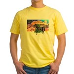XmsMusic2/Horse (Ar-blk) Yellow T-Shirt