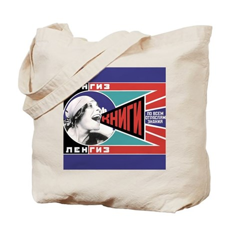 Russian Feminist Propaganda Tote Bag
