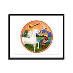 XmsFntsy/Horse (Ar-W) Framed Panel Print
