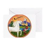 XmsFntsy/Horse (Ar-W) Greeting Card