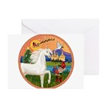 XmsFntsy/Horse (Ar-W) Greeting Cards (Pk of 10)