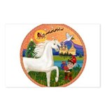 XmsFntsy/Horse (Ar-W) Postcards (Package of 8)
