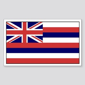 Hawaii Flag Rectangle Sticker