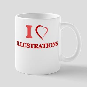 I Love Illustrations Mugs