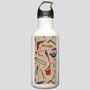 Work Tools on Wood Stainless Water Bottle 1.0L