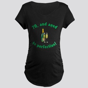 70, Aged To Perfection Maternity Dark T-Shirt