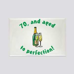 70, Aged To Perfection Rectangle Magnet