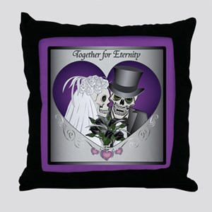 Wedding Skulls Throw Pillow