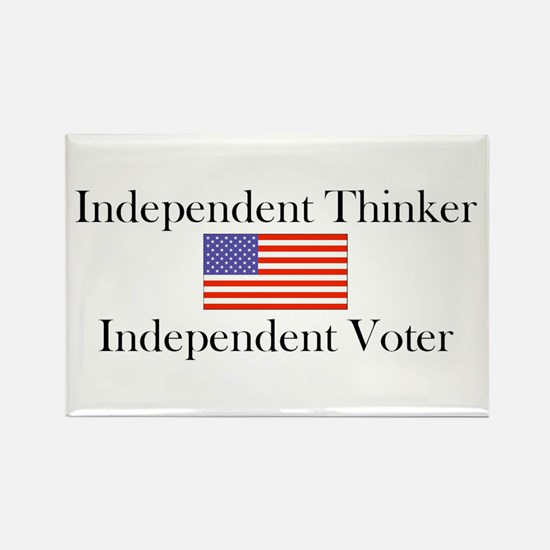 Cute Independent voter Rectangle Magnet