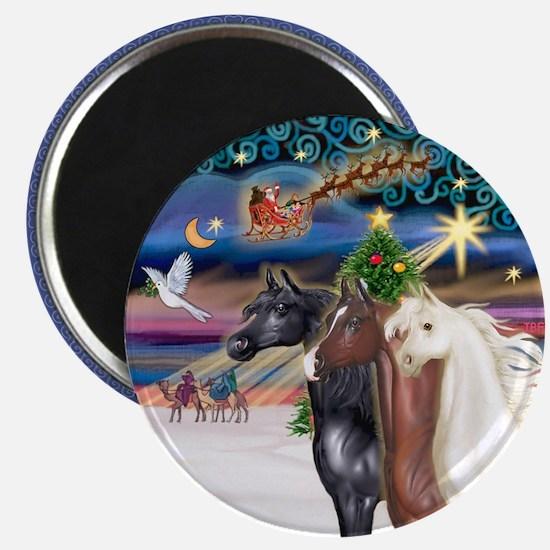 XmsMagic/3 Horses (Ar) Magnet
