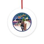 XmsMagic/3 Horses (Ar) Ornament (Round)