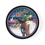 XmsMagic/3 Horses (Ar) Wall Clock