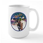 XmsMagic/3 Horses (Ar) Large Mug