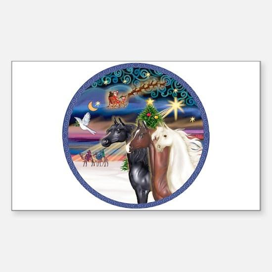 XmsMagic/3 Horses (Ar) Rectangle Decal