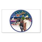 XmsMagic/3 Horses (Ar) Rectangle Sticker