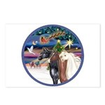 XmsMagic/3 Horses (Ar) Postcards (Package of 8)