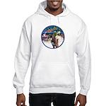 XmsMagic/3 Horses (Ar) Hooded Sweatshirt