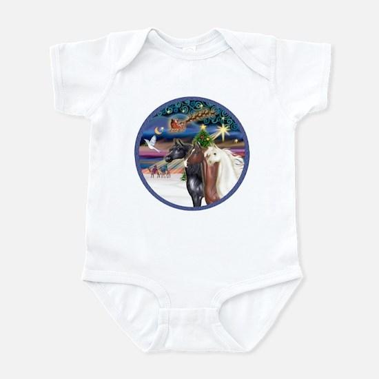 XmsMagic/3 Horses (Ar) Infant Bodysuit