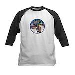 XmsMagic/3 Horses (Ar) Kids Baseball Jersey