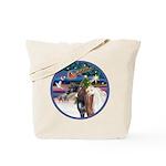 XmsMagic/3 Horses (Ar) Tote Bag
