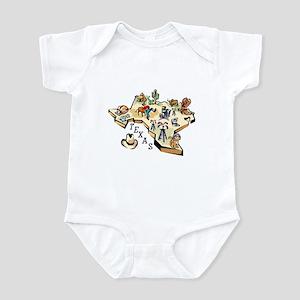 Texas Map Infant Bodysuit