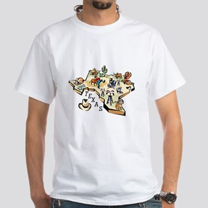 Texas Map White T-Shirt