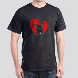 Black Frenchie Lover Dark T-Shirt