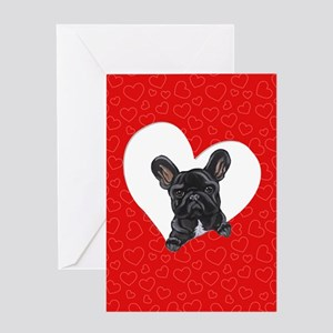 Black Frenchie Lover Greeting Card