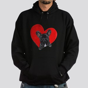Black Frenchie Lover Hoodie (dark)