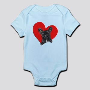 Black Frenchie Lover Infant Bodysuit