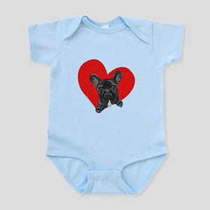 Black Frenchie Lover Infant Bodysuit