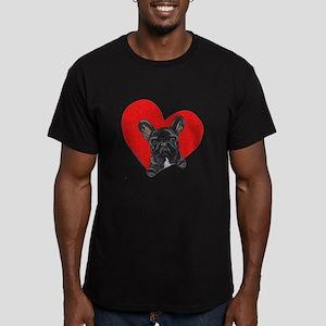 Black Frenchie Lover Men's Fitted T-Shirt (dark)
