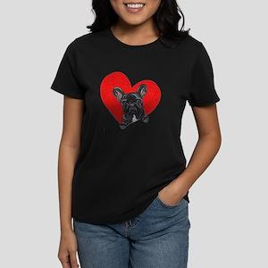 Black Frenchie Lover Women's Dark T-Shirt