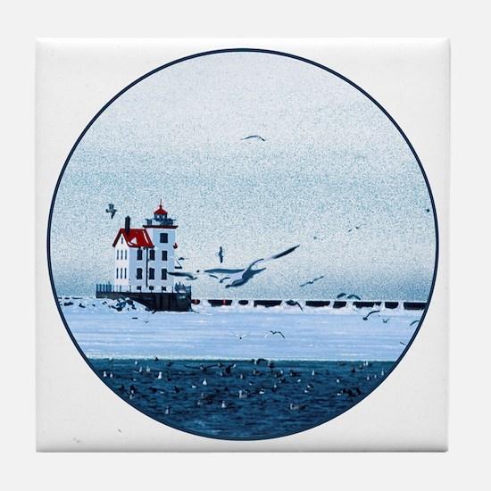 Cute Ship Tile Coaster
