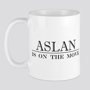 Aslan Is On The Move Mug