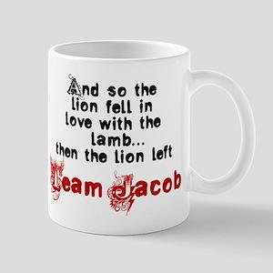 Team Jacob The lion left Mug